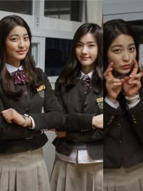 길은혜, 박세영과 교복입고 다정 셀카...'친자매같네'