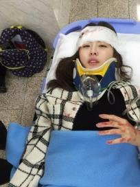 '위대한 조강지처' 진예솔, 교통사고 비하인드 스틸컷 공개