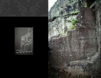 예기청소 위쪽 암벽에 새겨진 경주 석장동 암각화