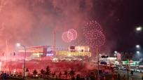 [평창동계올림픽 개회식] 평!창! 올림픽 개막 알리는 핑크빛 폭죽
