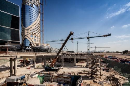 카타르 루사일 고속도로 공사현장/사진=현대건설 제공