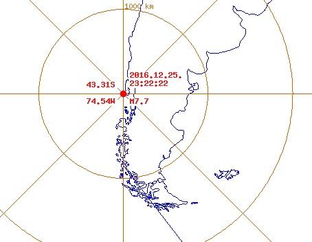 칠레 지진 규모 7.7