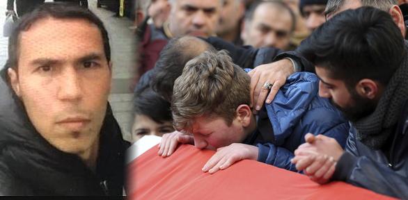 터키 경찰이 공개한 이스탄불 총기난사 테러범의 얼굴사진과 클럽 총기난사 테러 희생자 가족 / 사진=AP 뉴시스
