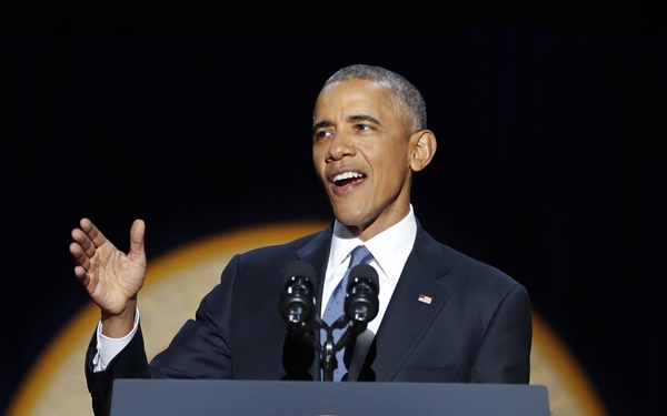 퇴임을 10일 앞둔 버락 오바마 미국 대통령이 시카고에서 고별연설을 전했다 / 사진=뉴시스