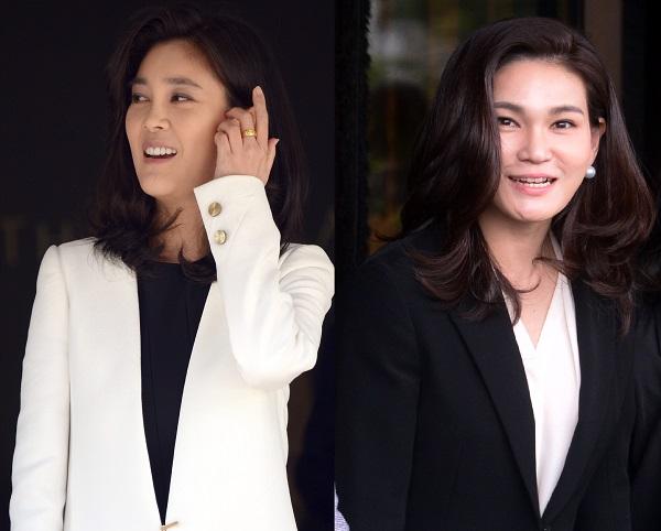 이부진 호텔신라 사장(왼쪽)과 이서현 삼성물산 패션부문 사장. 사진/뉴시스
