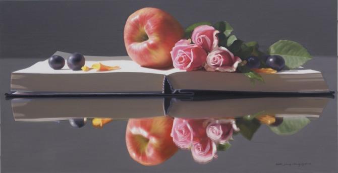 정창균 작 '명경지수'. 128x64cm. oil on canvas. 2010