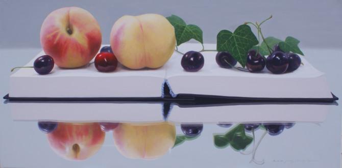 정창균 작 '명경지수'. 122x61cm. oil on canvas. 2010