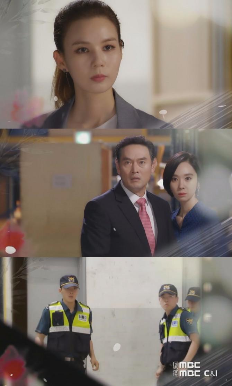 14일 오번 방송되는 MBC 일일드라마 '훈장 오순남' 80회에서는 오순남(박시은)이 방광식(정명준)과 손을 잡고 황세희(한수연)를 반격하는 장면이 그려진다. 사진=MBC 영상 캡처