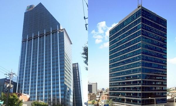 GS칼텍스와 GS건설, 효성이 국감 증언대에 오른다. 사진은 GS타워(왼쪽)와 효성 본사(오른쪽).