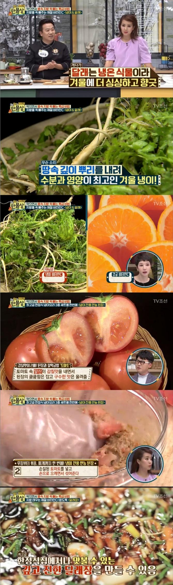 11일 밤 방송된 TV조선 '살림9단의 만물상'에서는 이우철 기능장이 츨연, 냉이 만능된장과 달래장 레시피를 공개했다. 사진=TV조선 방송 캡처