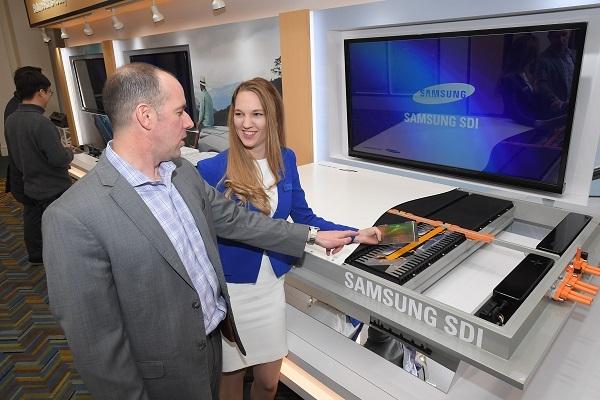 삼성SDI가 미국 디트로이트 모터쇼에 참가해 전시 부스를 열었다. 사진=삼성SDI.