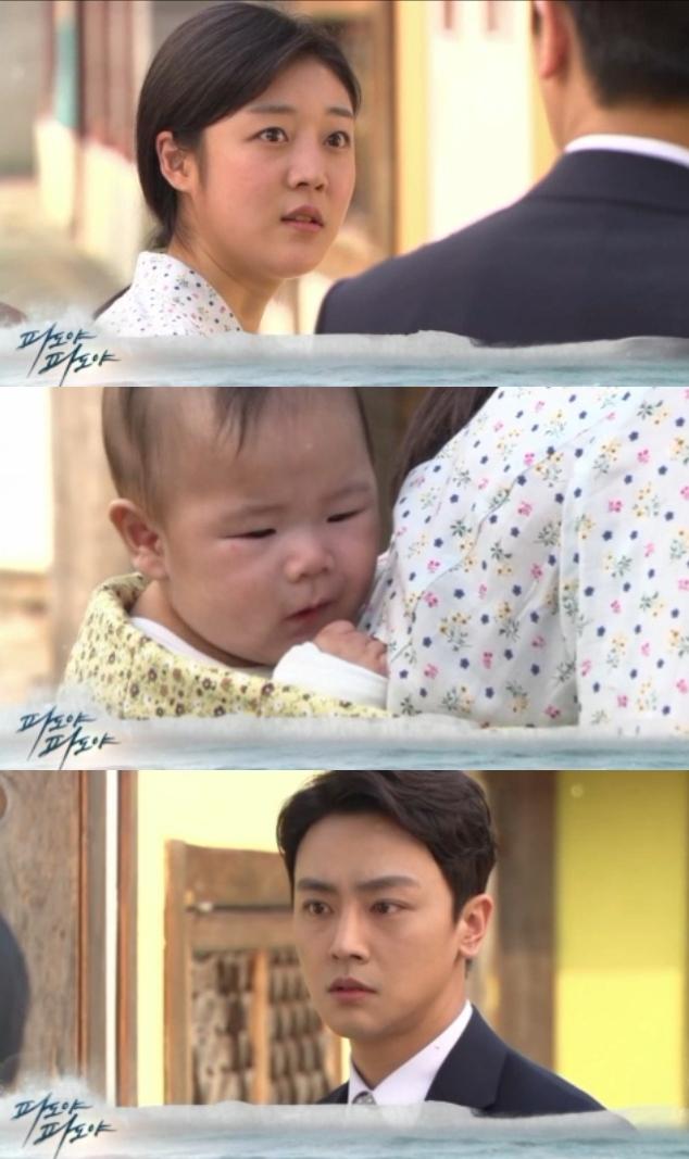 17일 오전 방송되는 KBS2 tv소설 '파도야 파도야' 67회에서는 오정훈(장재호)이 자신의 아들을 업고 있는 순영(서하)을 우연히 목격하는 충격 반전이 그려진다.; 사진=KBS 영상 캡처