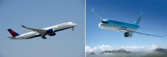 항공업계가 일회용품 사용 자제 및 친환경 기재 도입 등 '그린 경영'을 펼치고 있다 사진=델타항공, 대한항공