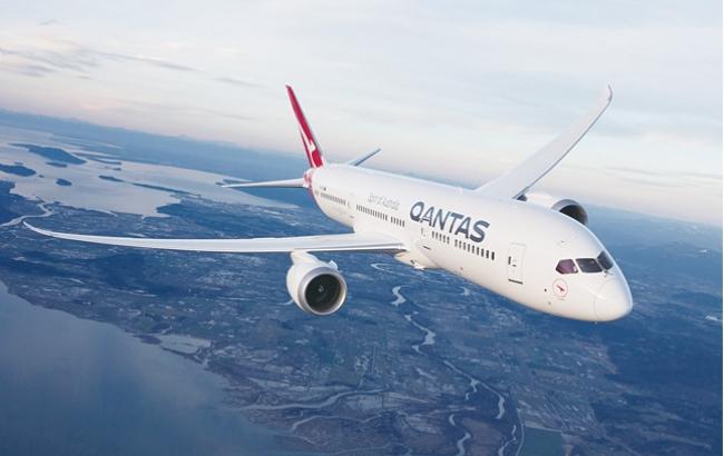 콴타스 항공의 19시간 소요 세계 최장거리 노선 시험운항에 투입되는 보잉 787-9기.