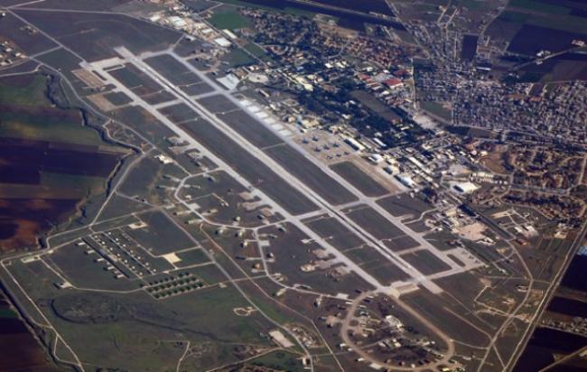 미국의 전술 핵 50기가 배치된 터키의 인시를릭 미국 공군기지 전경.
