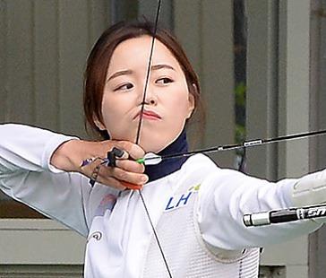 리우올림픽 2관왕에 오른 여자신궁 장혜진.