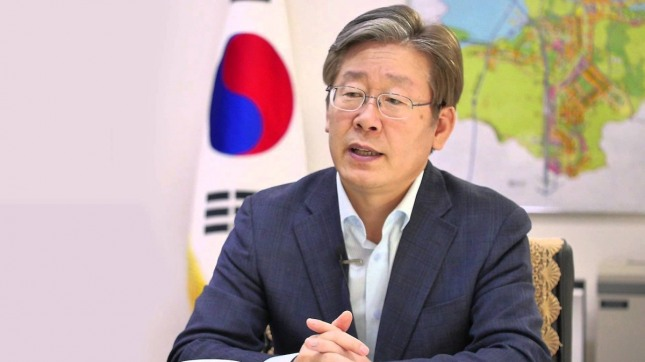 대통령 출마를 선언한 이재명 성남시장. /사진=유튜브