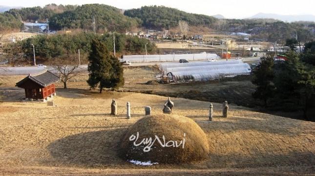 경기도 남양주시 조안면 능내리 한확 선생의 묘소.