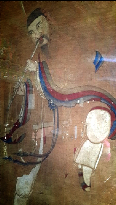 서울 종로 인왕산 국사당에 창부씨를 그려놓은 무신도. 중요민속자료 제17-6호로 지정돼 있다.