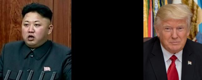 북한 김정은 위원장(왼쪽)과 미국 도널드 트럼프 대통령
