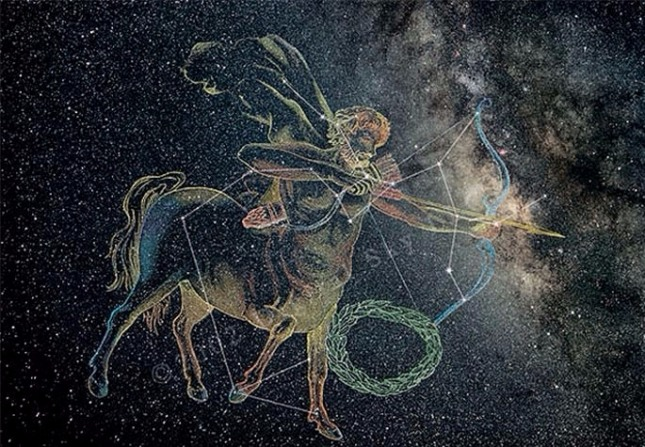 사수자리의 케이론. 구속되지 않고 자신의 신념대로 살아가는 자유로운 영혼이다.