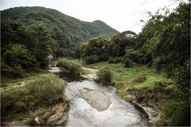 경승지인 반구대가 자리한 언양읍 대곡리 계곡.