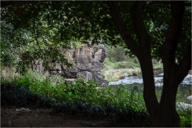 울산 반구대 암각화가 있는 울주군 언양읍 대곡천.