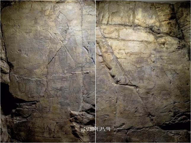 울산대곡리 반구대암각화 배그림