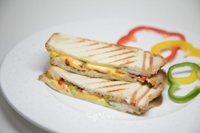 베이컨&치즈 샌드위치. 사진=미니쿠치