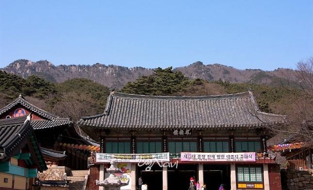 봉황포란형 산세에 자리잡은 동화사.