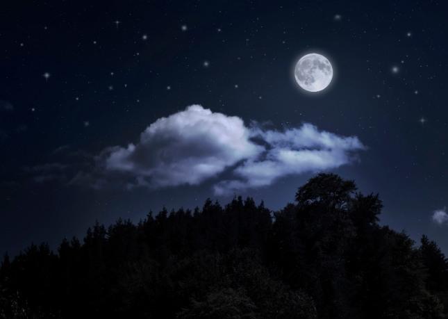 달이 구름에 가져져 보이지 않거나 달이 갑자기 땅으로 떨어지는 꿈은 자신이나 가족, 주변 지인 또는 사업체 등에 장애나 문제가 발생하게 될 것을 암시하는 흉몽이다. 자료=글로벌이코노믹