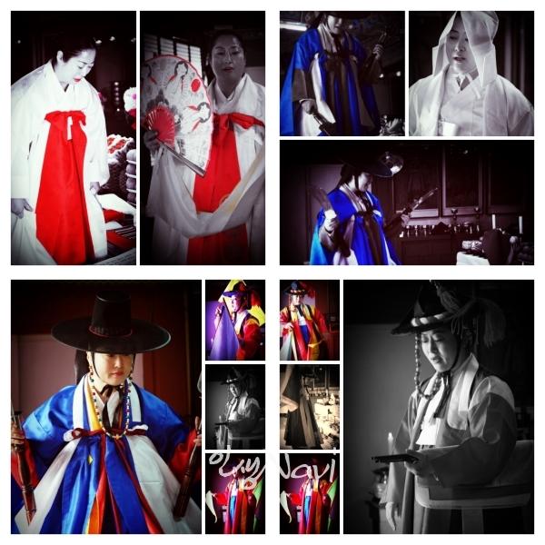 서울특별시 무형문화재 제35호 마포구 밤섬도당굿 이수자 만신 김금휘가 종로구 인왕산 국사당에서 전통 한양굿을 하고 있다.