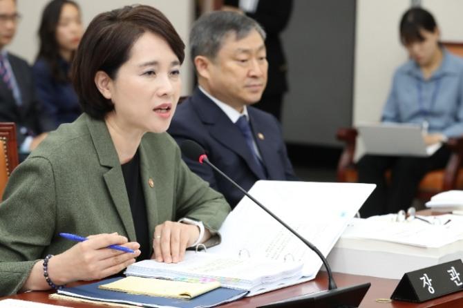 유은혜 부총리겸 교육부 장관이 21일 국회 교육위원회 확인 국정감사에서